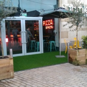 Our 30mm Lush Artificial Grass in now in Jamies Italian in Dundrum